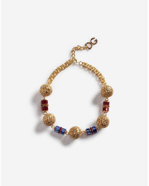 Dolce & Gabbana   Metallic Filigree Necklace   Lyst