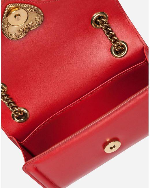 Lyst - Dolce   Gabbana Mini Devotion Bag In Smooth Calfskin in Red 113ffca5f1fba
