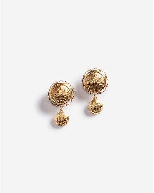 Dolce & Gabbana   Metallic Galvanized Earrings   Lyst