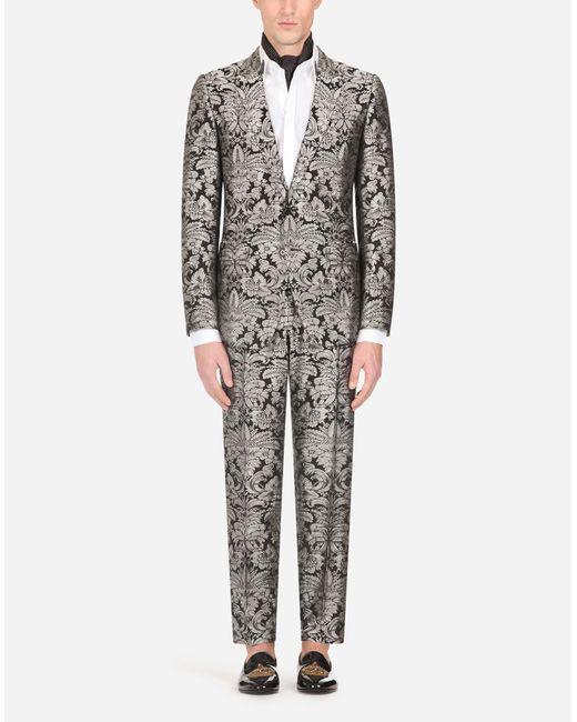 Dolce & Gabbana Metallic Jacquard Martini Suit for men