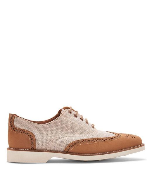 Donald J Pliner | Multicolor Canvas And Nubuck Leather Oxford for Men | Lyst