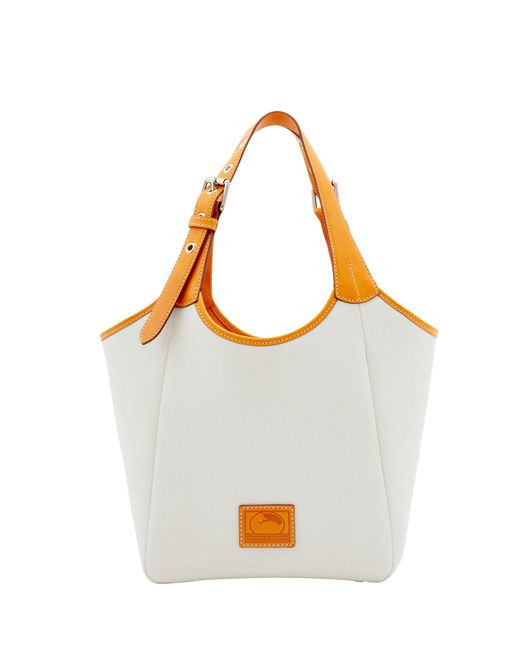 Dooney & Bourke - White Patterson Leather Small Penelope - Lyst