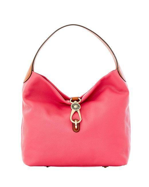 Dooney & Bourke - Pink Pebble Grain Logo Lock Shoulder Bag - Lyst