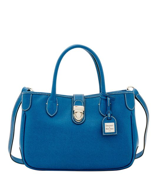Dooney & Bourke - Blue Saffiano Small Double Handle Tote - Lyst