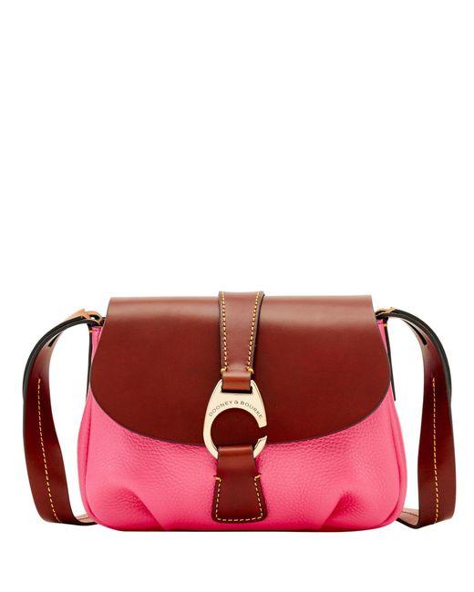 Lyst - Dooney   Bourke Derby Pebble Small Flap Crossbody in Pink ... c920f88c28f61