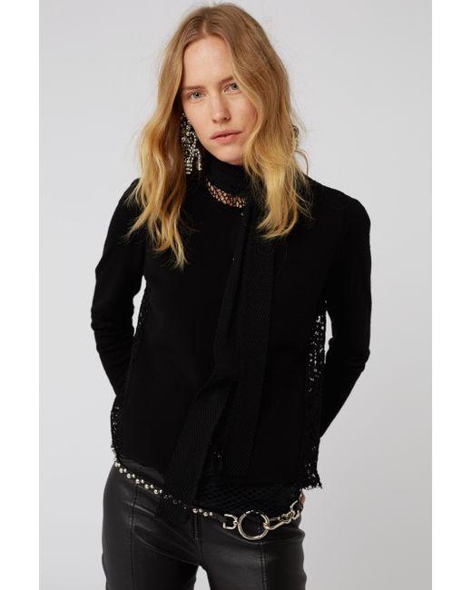 Dorothee Schumacher - Black Lace Embrace Cardigan O-neck 1/1 - Lyst