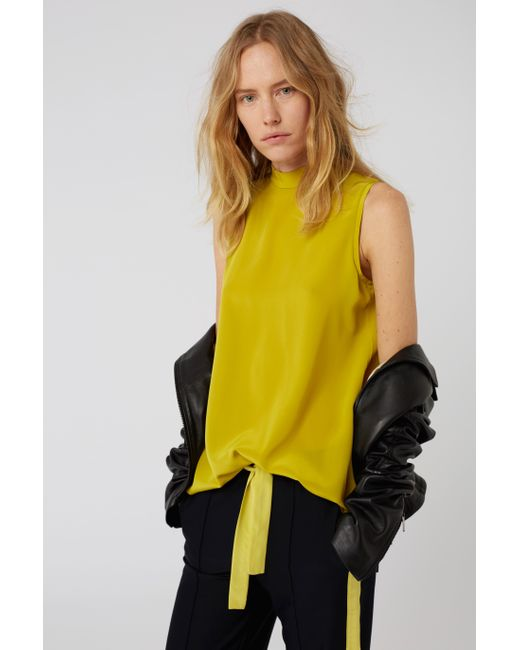 Dorothee Schumacher - Yellow Playful Surprise Blouse Sl. Less - Lyst