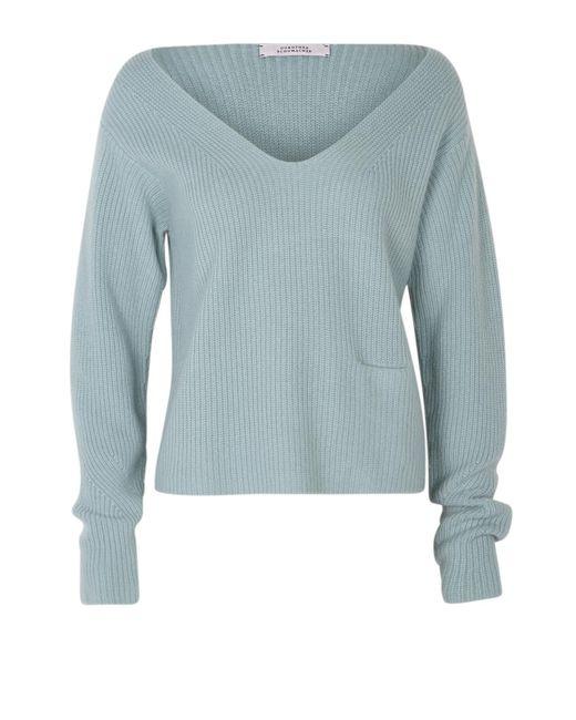 Dorothee Schumacher | Blue Drape And Dream Pullover V-neck 1/1 | Lyst