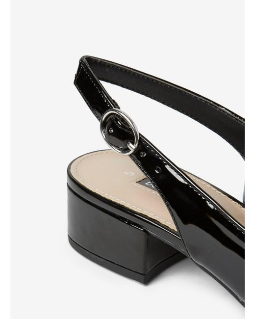 9b165fdc40 Dorothy Perkins Black 'daphne' Block Heel Court Shoes in Black - Lyst