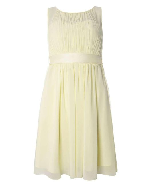 Dorothy Perkins Showcase Lemon Helena Maxi Dress In