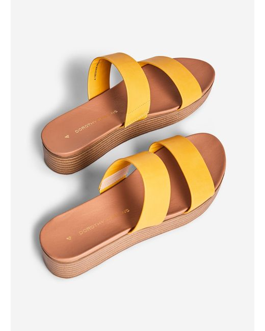 959150c4fc In Lyst Perkins Rosalie Dorothy Yellow Mules 9EHIYeD2bW