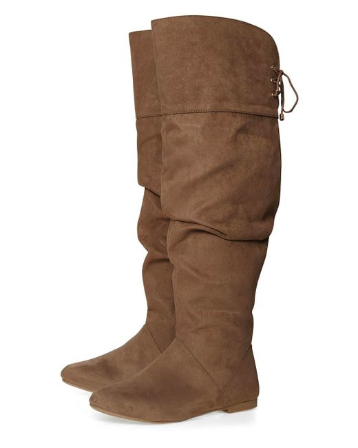 Dorothy Perkins Taupe Tania Slouch Boots In Multicolour