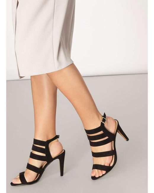 Dorothy Perkins | Black Lily & Franc Jaz Strap Heeled Sandals