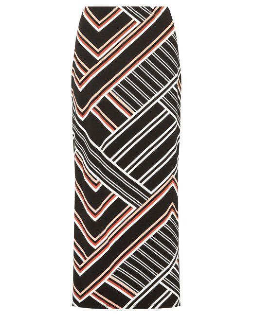 Dorothy Perkins - Black Multi Coloured Geometric Striped Maxi Skirt - Lyst
