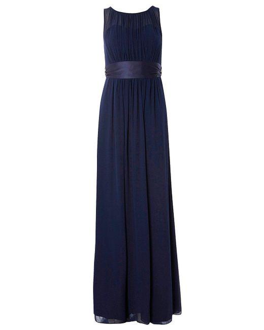 Dorothy Perkins - Blue Showcase Petite Navy 'natalie' Maxi Dress - Lyst