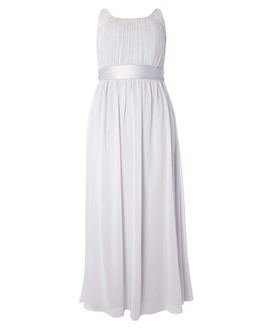 Dorothy Perkins | Gray Showcase Curve Dove Grey 'natalie' Maxi Dress | Lyst