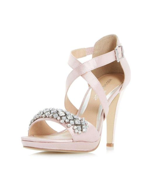 Dorothy Perkins | Natural Head Over Heels By Dune Nude 'maisy' High Heeled Sandals | Lyst