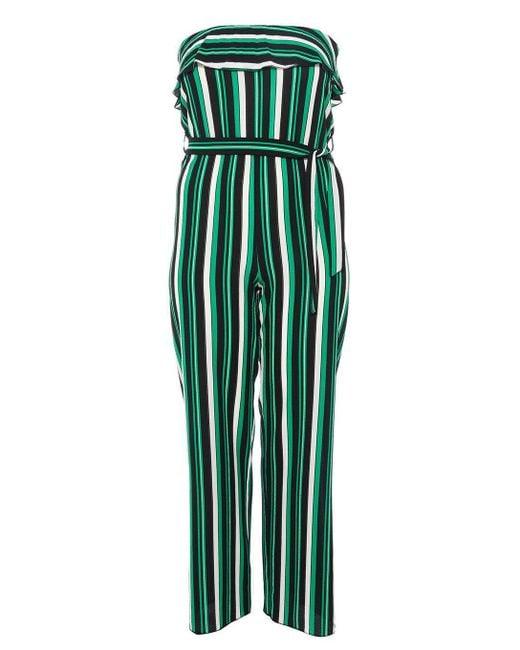 Dorothy Perkins - Quiz Green Striped Jumpsuit - Lyst