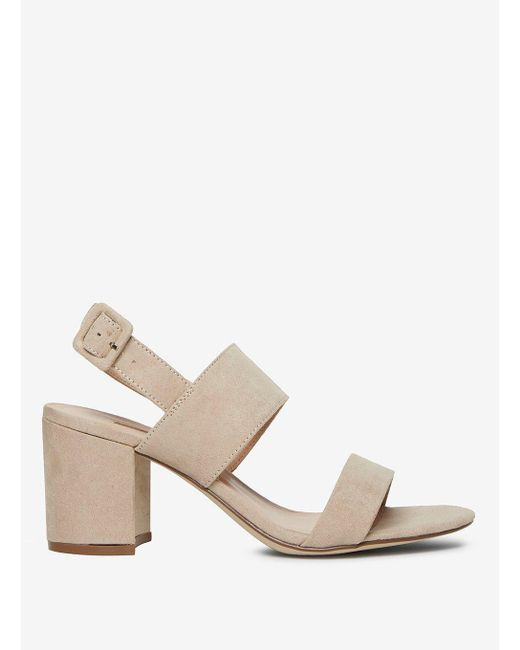 Dorothy Perkins Womens Taupe 'Sadie' Block Heel Sandals- Cheap Shop Offer Recommend Cheap 12znrW