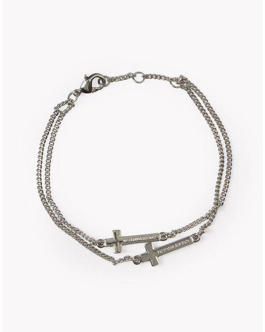 DSquared² | Metallic Cross Bracelet for Men | Lyst