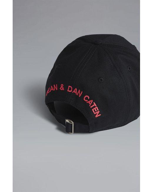 7154fd5387b DSquared² - Black Baseball Cap for Men - Lyst ...