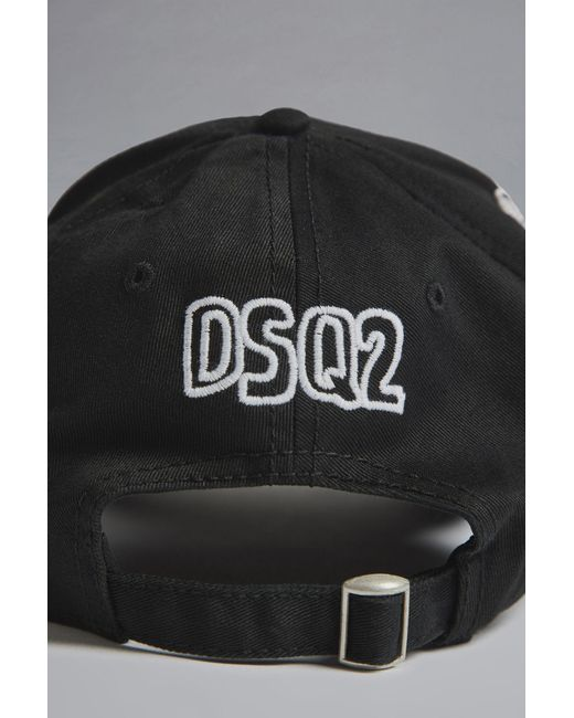 453f4ba80a9 DSquared² - Black Chaos Baseball Cap for Men - Lyst ...