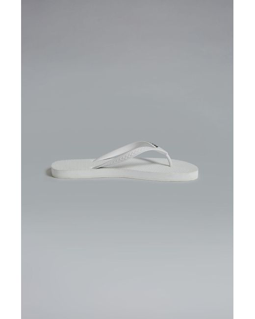 ddac34287 DSquared² - White Flip Flop for Men - Lyst ...