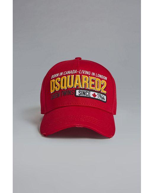 c6904e78b Lyst - DSquared² Baseball Cap in Red for Men