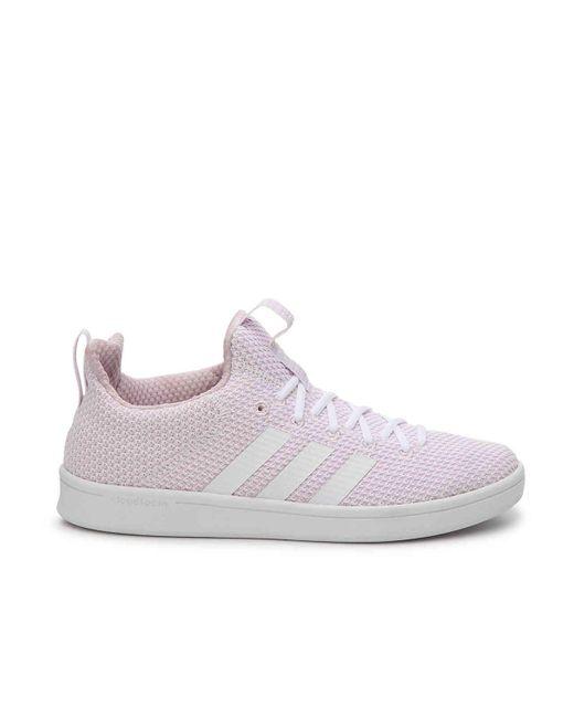 lyst adidas cloudfoam vantaggio adattare scarpe rosa