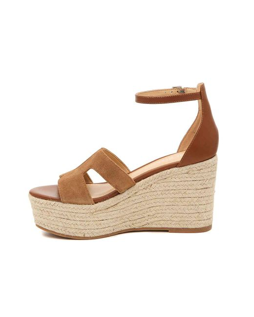pick up latest fashion new release Women's Brown Adelyn Espadrille Wedge Sandal