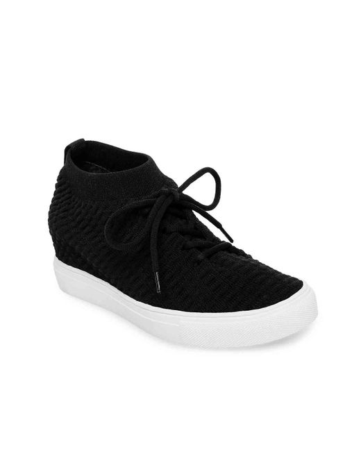 6b5c4cd04ba Lyst - Steven by Steve Madden Carin Wedge Sneaker in Black