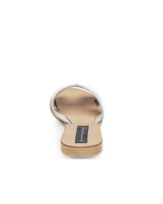 c19a01b1ef2 ... Lyst Steven by Steve Madden - Greece Sandal (white Leather 1) Women s  Sandals ...