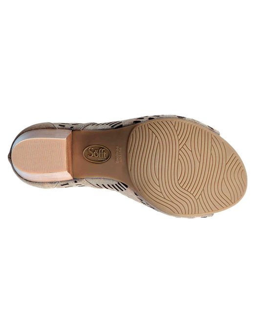 f03e1df076f ... Söfft - Multicolor Modesto Laser Cut Metallic Suede Lace-up Ghillie  Block Heel Sandals ...