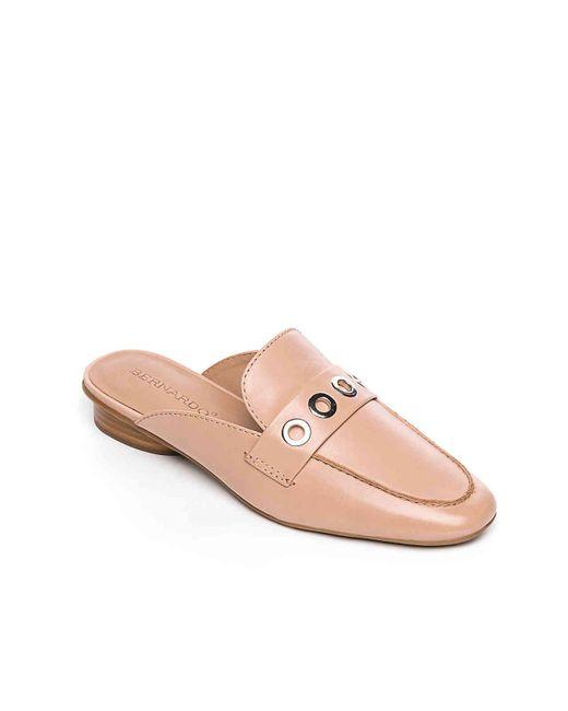 Bernardo - Pink Jen Grommet Leather Mules - Lyst