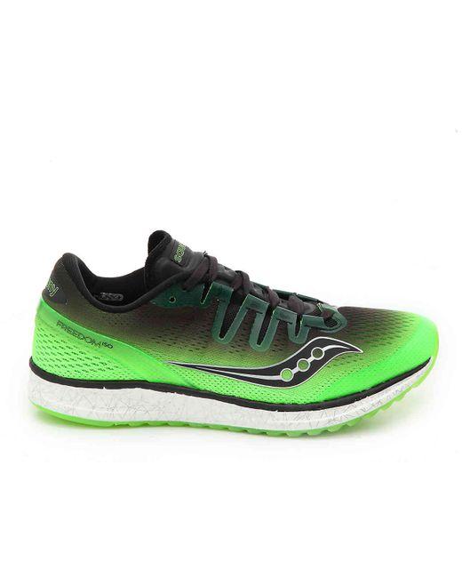 69e120f4284 ... Saucony - Green Freedom Iso Running Shoe for Men - Lyst ...