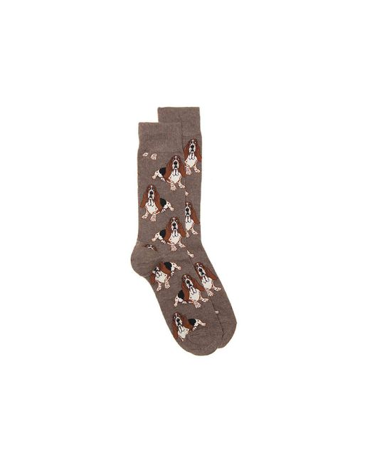 Socksmith - Brown Nothing But A Hound Dog Crew Socks - Lyst