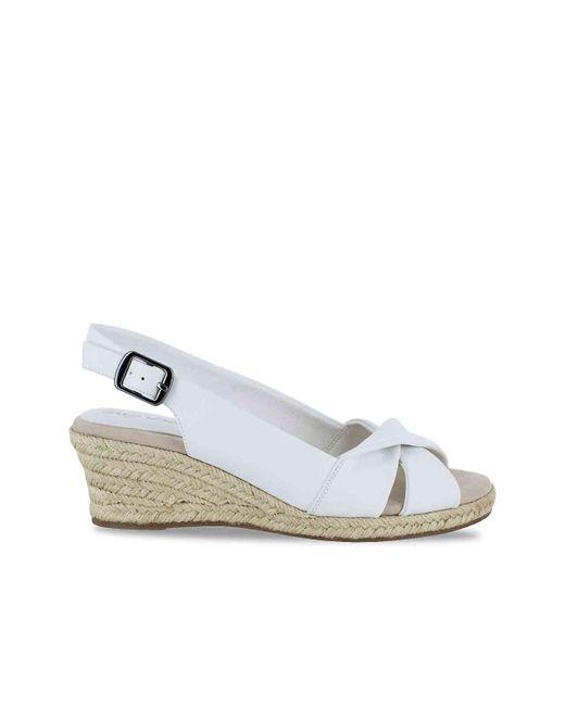 ea4249e5d5fd ... Easy Street - White Maureen Espadrille Slingback Sandals - Lyst ...