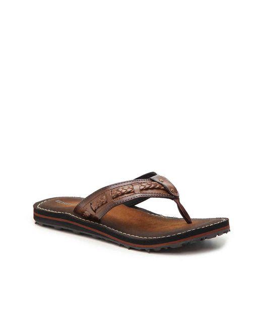 Clarks - Brown Fenner Nerice Flip Flop for Men - Lyst