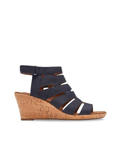 7ea7b9cd5eeb ... Rockport - Blue Briah Wedge Sandal - Lyst