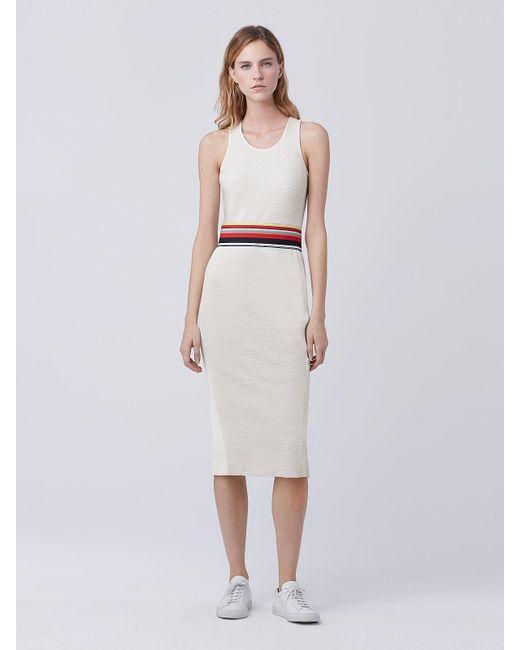 Diane von Furstenberg | White Dvf Teyla Fitted Dress | Lyst
