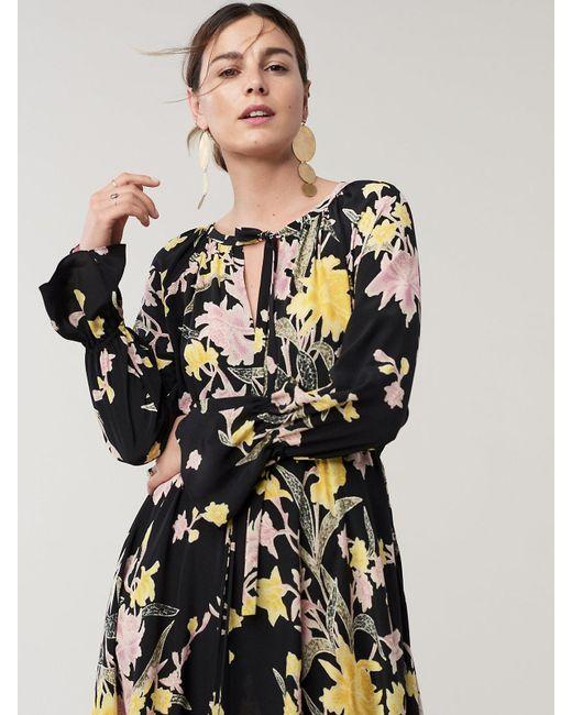 5dd42b413d ... Diane von Furstenberg - Black Eloise Silk Crepe De Chine Maxi Wrap Dress  - Lyst ...