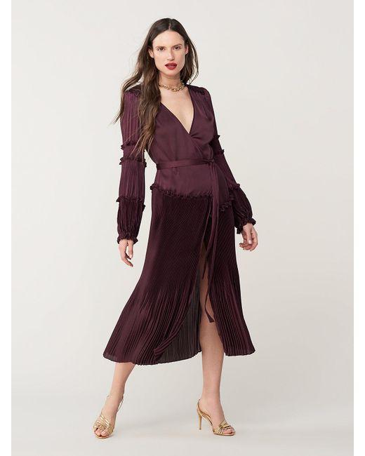 36835f9d48 Diane von Furstenberg Keira Pleated Midi Dress in Purple - Save 50 ...