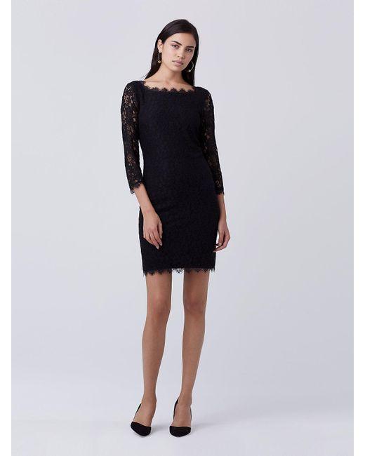 Diane von Furstenberg   Black Zarita Lace Dress   Lyst