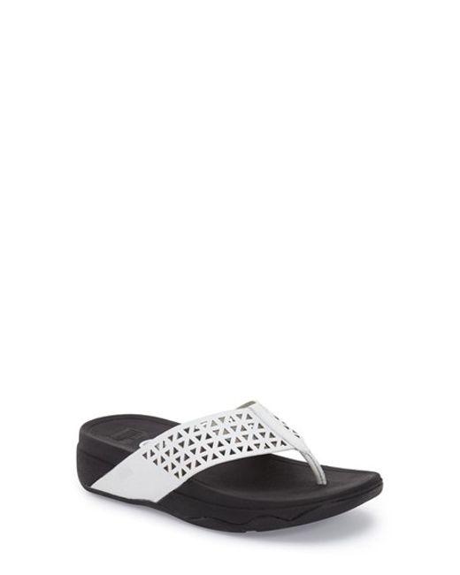 Fitflop Tm Lattice Surfa Sandal In White Urban White