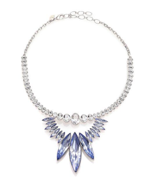 Ca&Lou | Blue Alexa Crystal Bib Necklace | Lyst