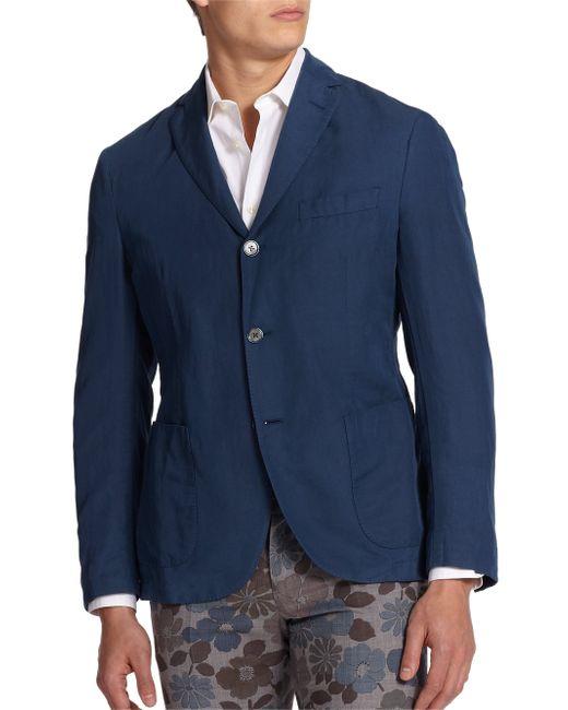 Slowear | Blue Chinolino Sportcoat for Men | Lyst
