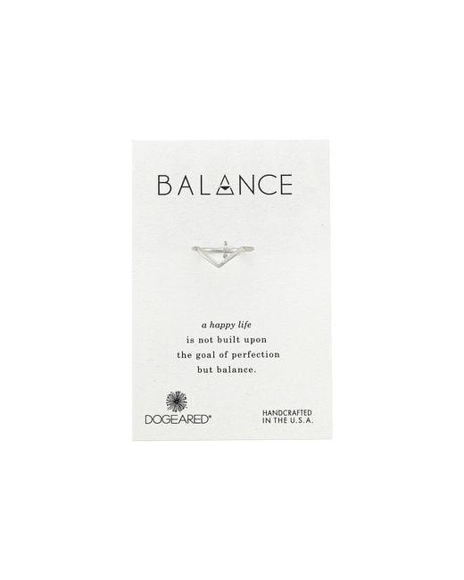 Dogeared | Metallic Balance V Ring | Lyst