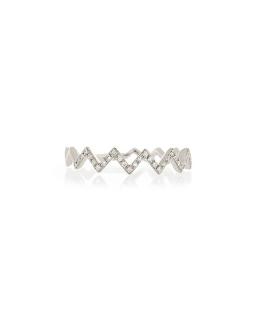 EF Collection | Pink Zigzag Diamond Stackable Ring | Lyst