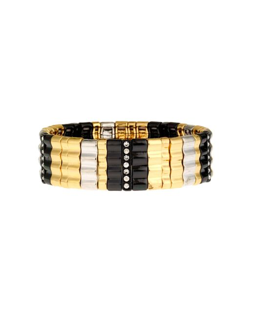 Nine West | Metallic Drama Tri Tone Bracelet | Lyst