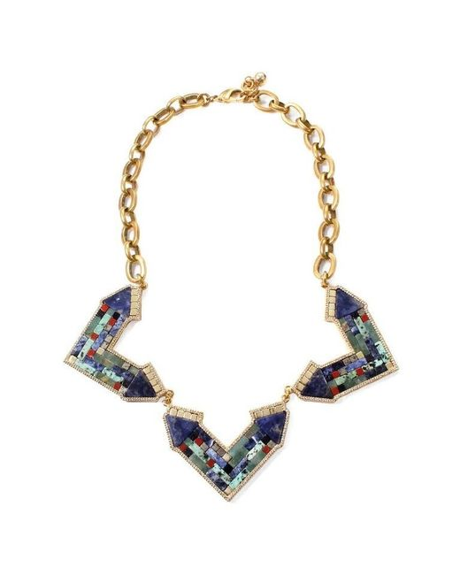 Lulu Frost | Blue Petra Statement Necklace | Lyst